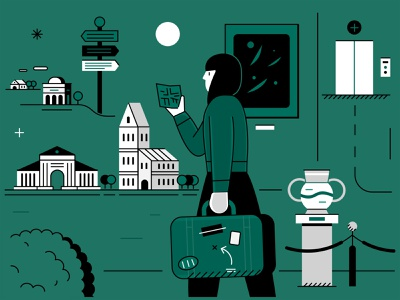 Artist Mobility mobility artist design vector illustrator adobe illustration