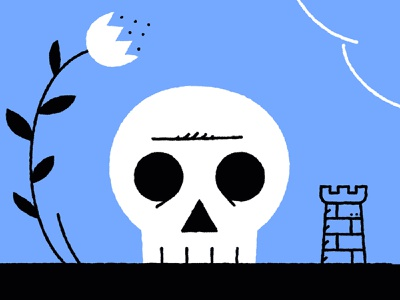 Skull and castles / Pyrrhic boredom aftermath skull magazine illustration design illustrator adobe vector illustration