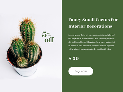 Fancy Small Cactus off plant green special offer cactus dailyui 036 dailyui036 dailyuichallenge daily ui jobs figmadesign uiux design figma dailyui ui uidesign adobe photoshop graphic design
