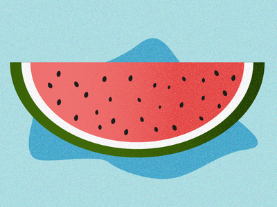 Watermelon juicy fruit effect summertime watermelon adobe ilustrator graphic design illustration