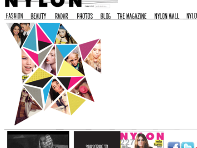 NYLONMAG site, home page