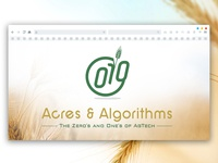 Logo Design for Acres And Algoritms
