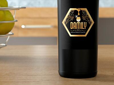 Damily honey logo wine logo brand logotype logo design logo