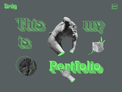 Brutalist Portfolio designer portfolio creative portfolio art portfolio freelance portfolio website ui creative web design creative design