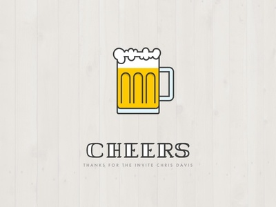 Cheers, fellow dribbblers! thank you thanks cheers beer beer mug first shot drafted idraw ipad