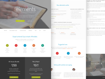 Elements Landing Page V2 wip church webdesign website web design product page god studies youth ministry landing page