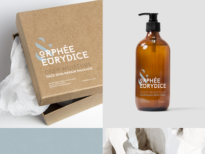 Cosmetic products packaging - ORPHEE & EURYDICE  simple bold modern box shampoo greek organic natural packaging raw cosmetics