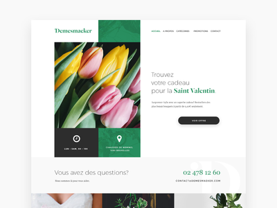 Daily UI #003, day 3: Landing page for flower shop website page landing shop flower ui daily