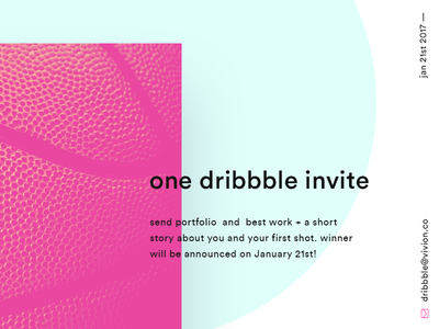 Dribbble invite giveaway! giveaway invite dribbble