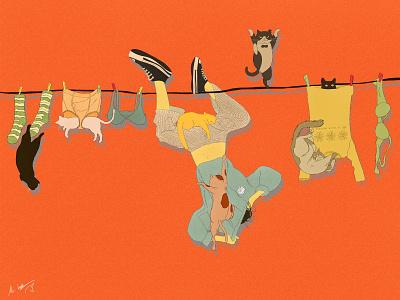 Catastrophe catlover procreate digital art digital illustration funart character art illustration catart cat