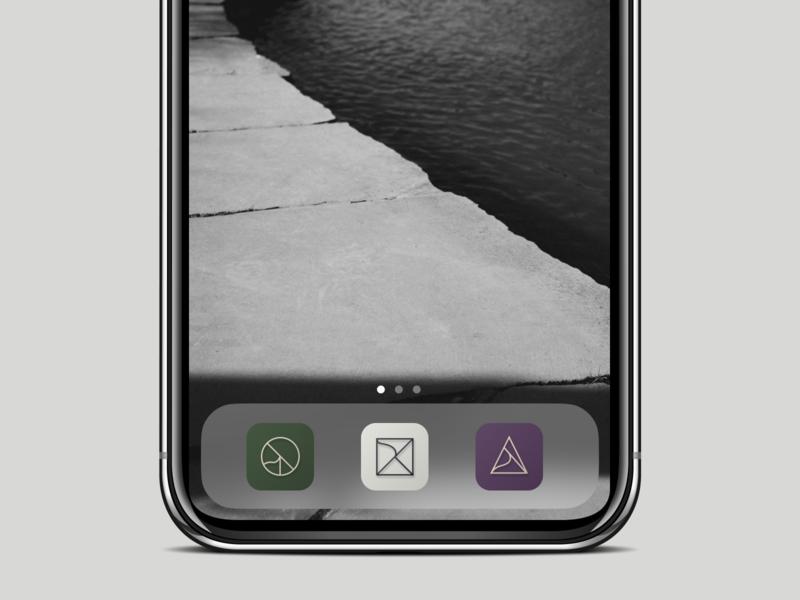Minimal iOS App Icons Set earth tones neutral minimalistic icon design app icon app design ux design ui design product design ux ui