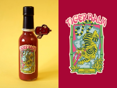 UNDERDOG - TIGER BALM SAUCE ui ux print design food art sauce logo typography illustration design art work vector branding brand design