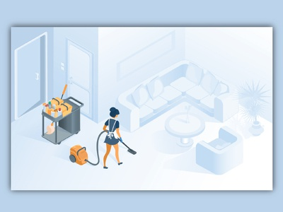 house clean illustration