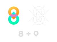 Logo / 8 + pin