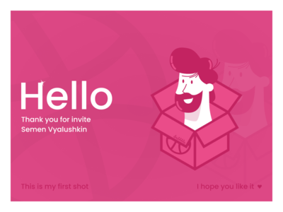 Hello Dribbble post