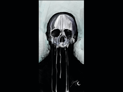 Pull the trigger dark wind dark wind human skeleton illustration fashion design 设计 ux ui