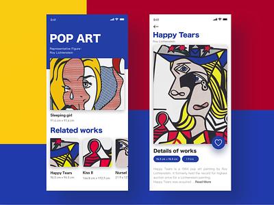 POP ART APP advertisement repeat wave point make art popular color collision roy lichtenstein pop art app ux ui