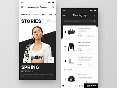 Shop App-01 luggage and bags clothing fashion app shopapp app ux ui