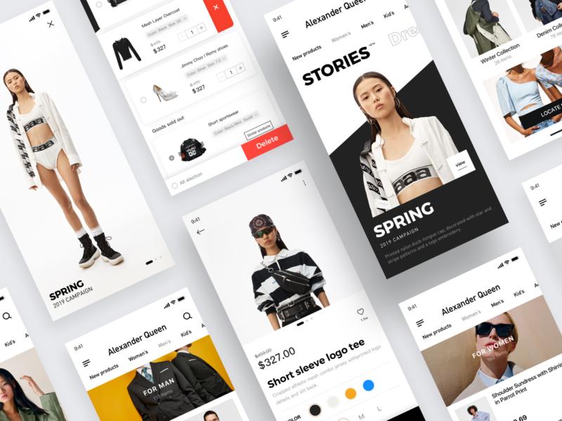 Shop App-03 buy shop app fashion shop shoppingapp 设计 ux ui