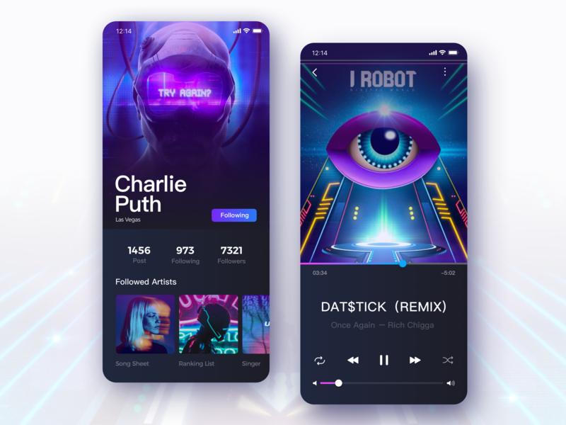 Music App-02 science and technology ios music music app design fashion illustration 设计 app ux ui