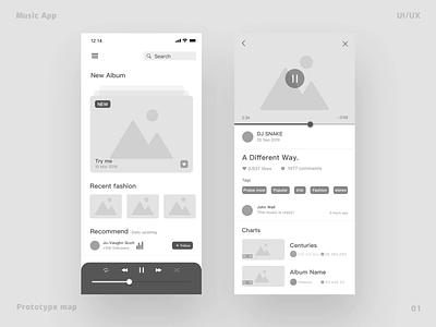 Music App-Mode switching ui ux app design ios music musicapp iphonex iphonexs
