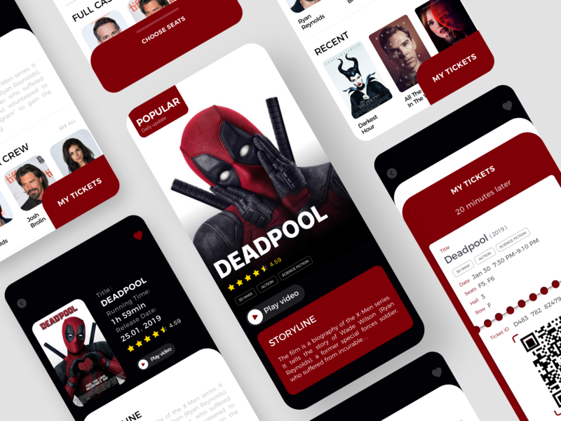 Movies App Concept-01 movies movies app ios illustration design fashion app ux ui