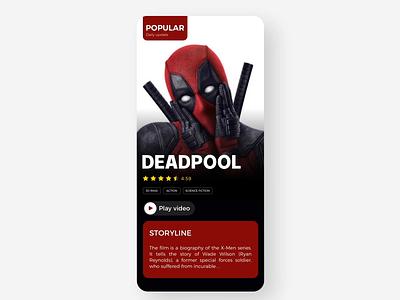 Movies App Concept 02 musicapp ios music design 设计 app ux ui