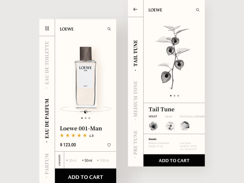 Fragrance Store:LOEWE01 perfume loewe fragrance store fashion ios design 设计 ui app ux