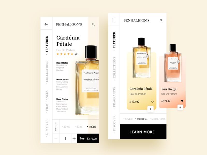 Fragrance Store 02 fragrance store illustration design ios app 设计 ux ui