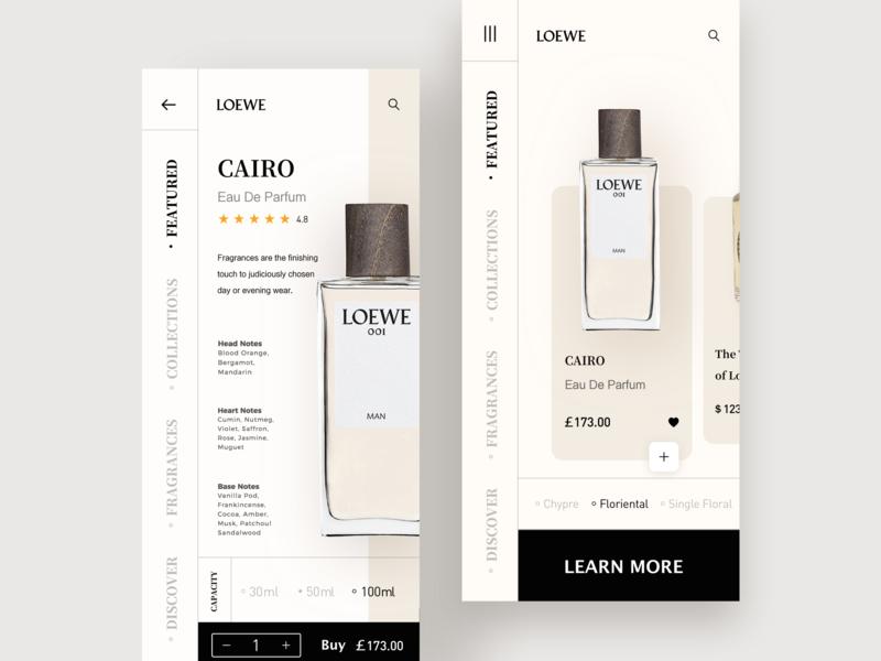 Fragrance Store:LOEWE02 fragrance fragrance store fashion design ios 设计 app ux ui