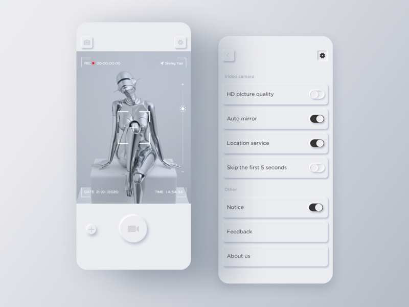 RECme📹 fashion design ios 设计 app ux ui