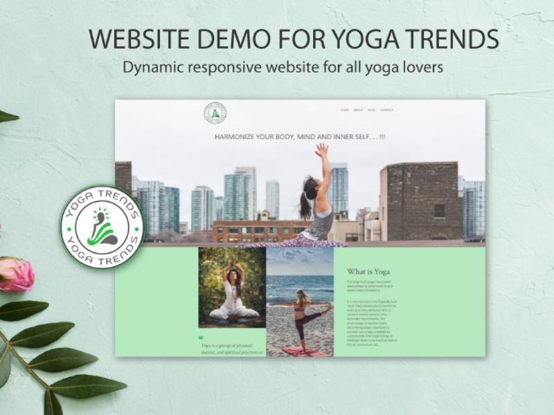 Yoga Trends website demo wordpress jquery illustrator photoshop bootstrap4 css3 html5