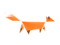 Vector Sketch: Origami Fox