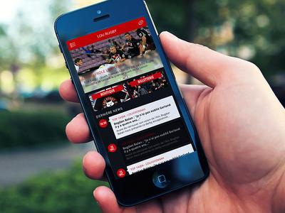 Rugby home mobile mobile phone iphone menu rugby dark