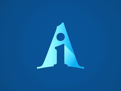 Askin logo design blue askin logotype dégradé