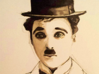Chaplin felt pen draw chaplin