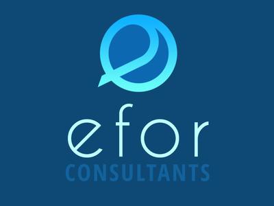 Logo efor redesign logo design redesign bleu blue