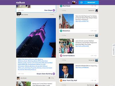 Radiuus.com feed radiuus social feed social media social feed geolocation