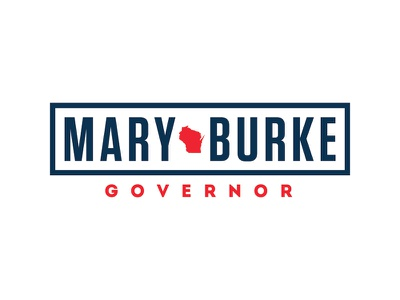 Mary Burke for Governor of Wisconsin logo logo politics campaign