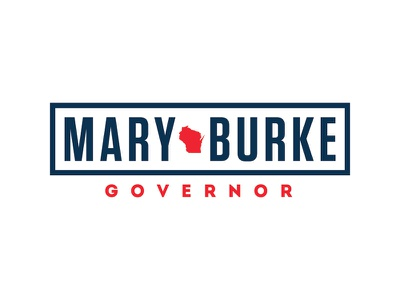 Mary Burke for Governor of Wisconsin logo logo politics campaign
