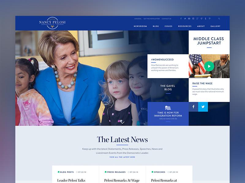 democratic leader nancy pelosi website by wide eye dribbble dribbble rh dribbble com
