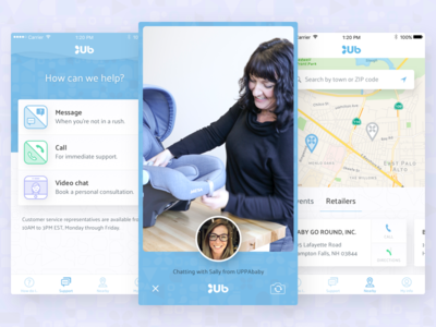 UPPAbaby iOS customer support video chat mobile ios