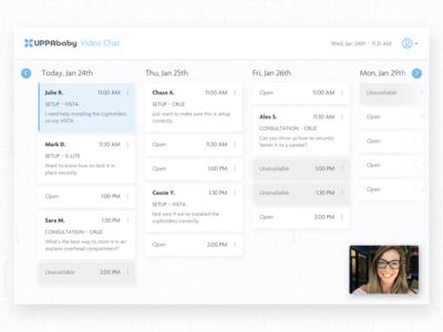 Video Chat Calendar customer support video chat calendar