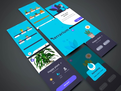 Terrarium app illustration plant plant app ui interface design app  design