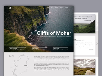 Cliffs of Moher wanderlust cliffs of moher ireland travel 2 webdesign userinterface webpage minimal layout ux ui minimal and clean minimal design website web