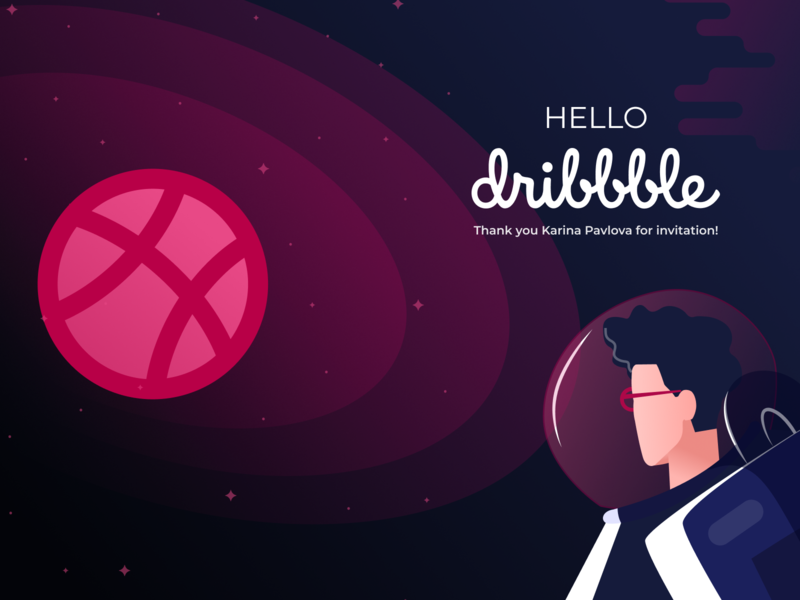 Hello Dribble Shot invitation hello dribble space first shot