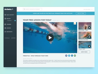 GoSwim - Become A Better Swimmer web apps ux ui web