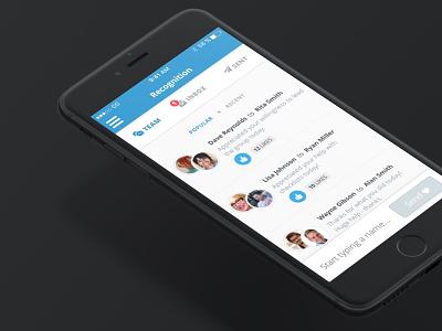 Team Appreciation iOS App uxui app interaction ios mobile ux ui