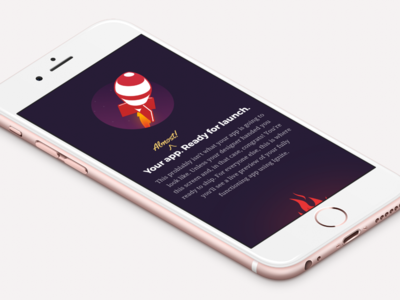 App Screen - More Details Soon red purple app design mobile illustration design ios app ui ux infinite red