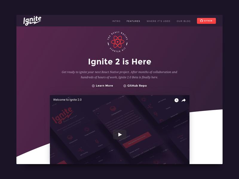 Ignite marketing page